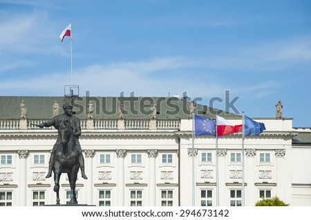 Presidential Palace in Warsaw, Poland. - stock photo