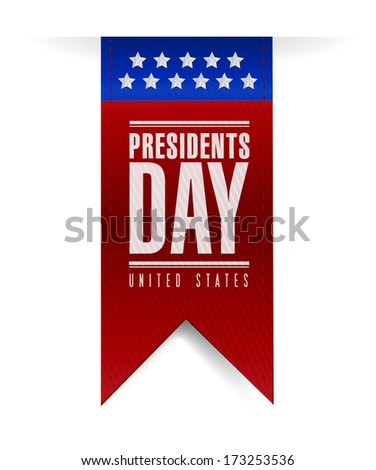 presidents day banner illustration design over a white background - stock photo
