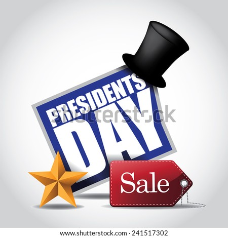 Presidents Day Sale Icon stock illustration - stock photo