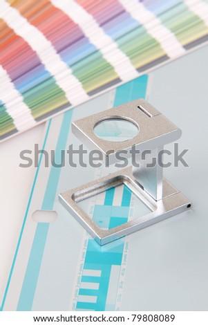 Press color management - print - stock photo