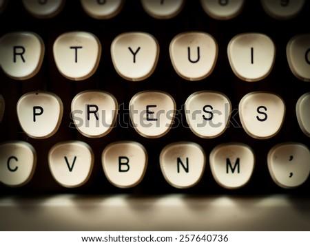Press concept - stock photo