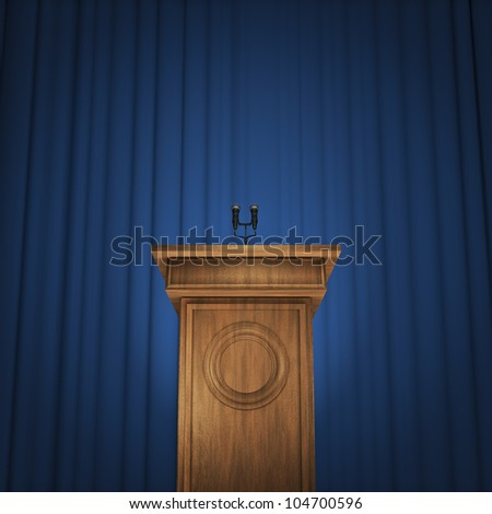 Press conference - stock photo