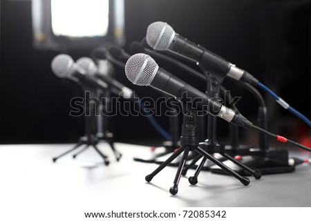 Press Conference Images Press Conference Microphone
