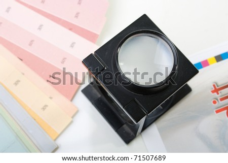 press loupe - stock photo