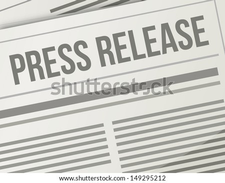 press release closeup illustration design graphic newspaper - stock photo