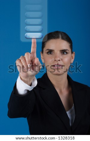 Press the key - stock photo