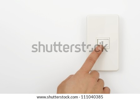 Press the switch on finger