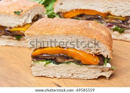 pepper sandwich recipes dishmaps pressed eggplant and pepper sandwich ...