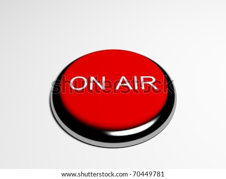 """Pressed red button """"ON AIR"""" - stock photo"""