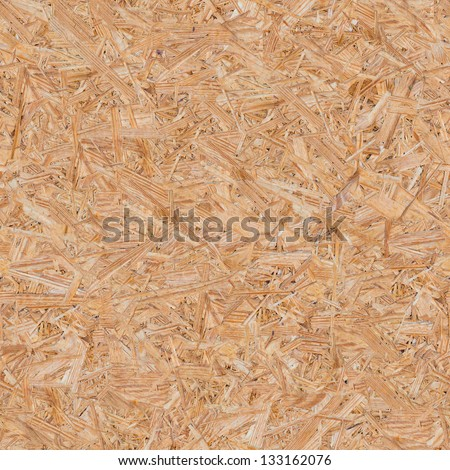 Pressed Wooden Panel (OSB). Seamless Tileable Texture. - stock photo