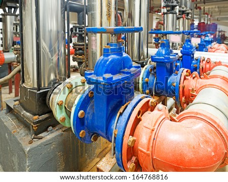 pressure pump for running water in a building