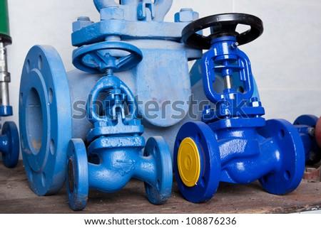 Pressure valves - stock photo