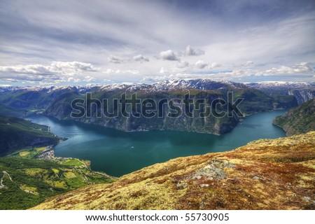 Prest, Aurland, Flåm In Norway - stock photo