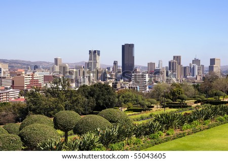 Pretoria Skyline, South Africa - stock photo