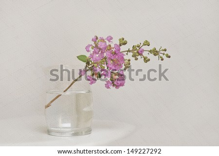 pretty art flower with texture for background - stock photo