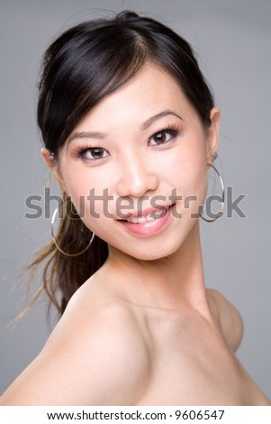 pretty asian woman face