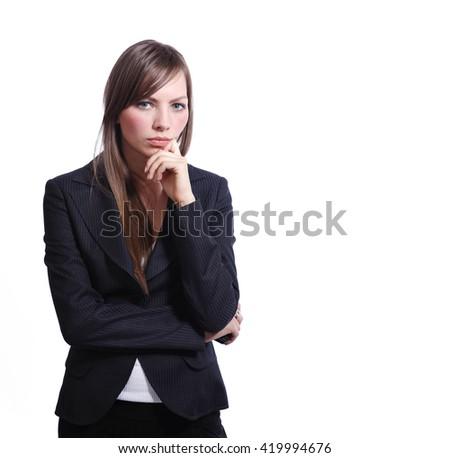 Pretty business woman - stock photo