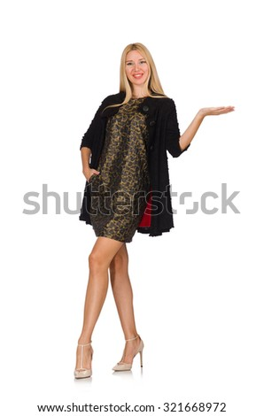Pretty caucasian woman isolated on white - stock photo