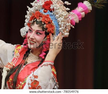 pretty chinese opera actress - stock photo