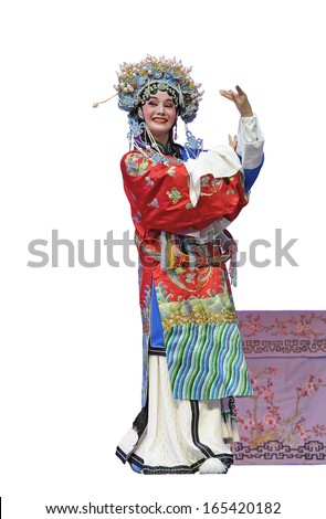 pretty chinese opera sctress - stock photo