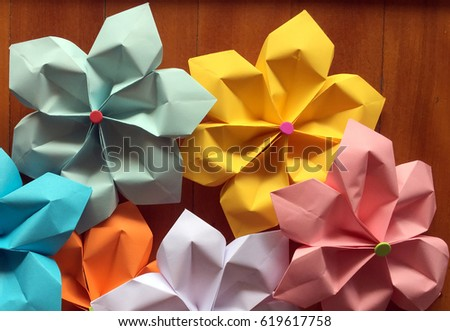 Pretty colorful flowers made out paper stock photo royalty free pretty colorful flowers made out of paper mightylinksfo