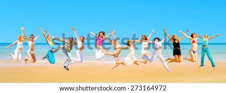 Pretty Dancers Under the Sun  - stock photo
