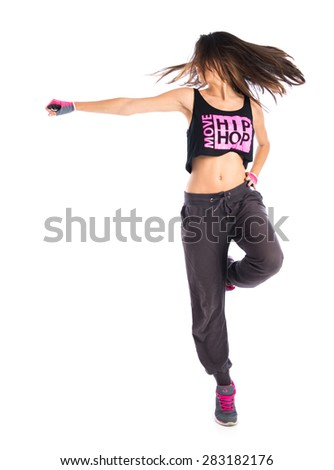Pretty fitness female posing - stock photo