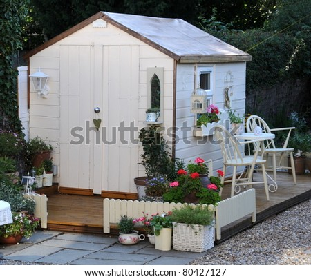 Shed stock photos royalty free images vectors for Pretty garden sheds