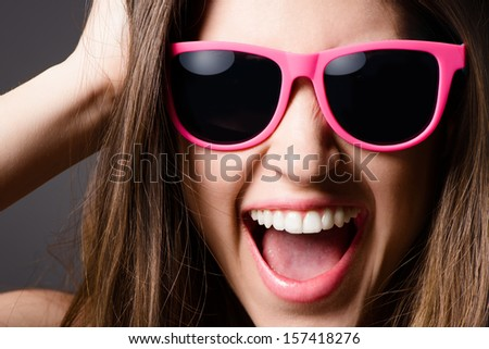 Pretty Girl Posing - stock photo