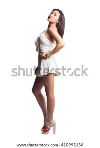 pretty girl posing - stock photo