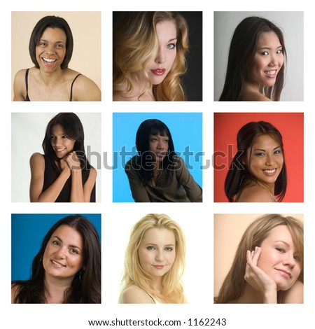 Pretty girls - more examples in my portfolio - stock photo