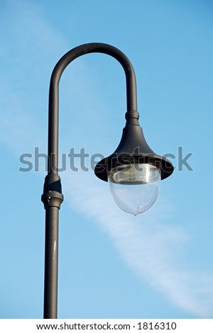 pretty lamppost with the blue sky
