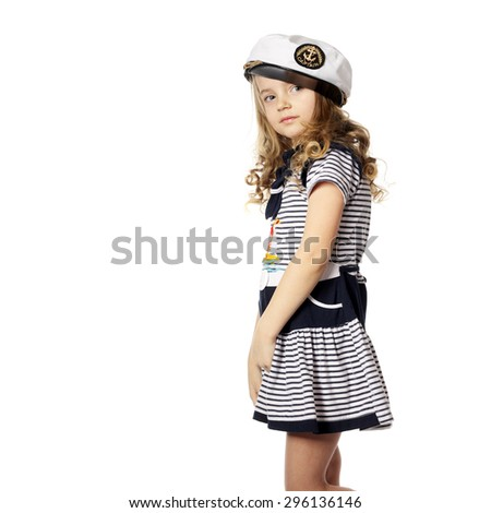 pretty little girl in the marine dress