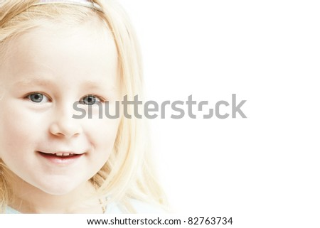 Pretty little girl. See my portfolio for more - stock photo