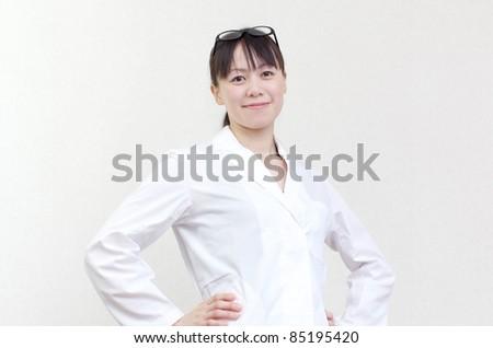 Pretty researcher - stock photo