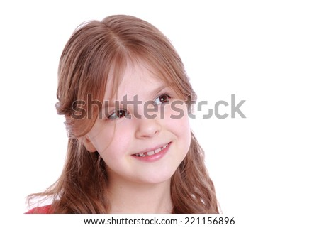 pretty smiley little girl - stock photo