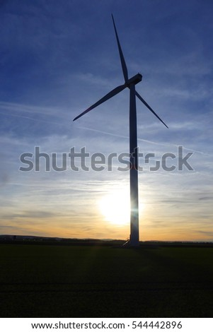 pretty wind turbine