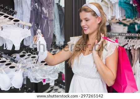 Sexy lingerie shopping