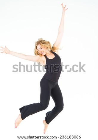 Pretty Woman Fitness Joy  - stock photo