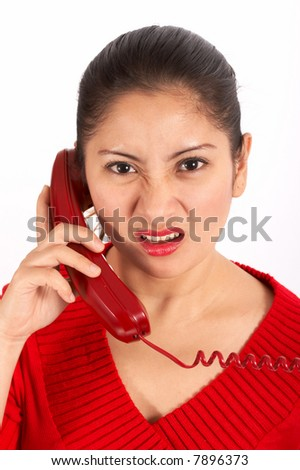 Pretty woman talking on the phone