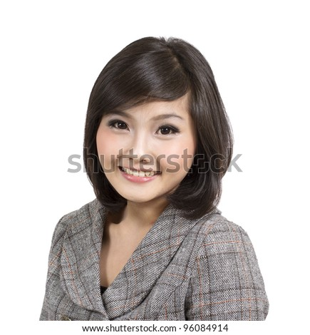 pretty young attractive business woman - stock photo