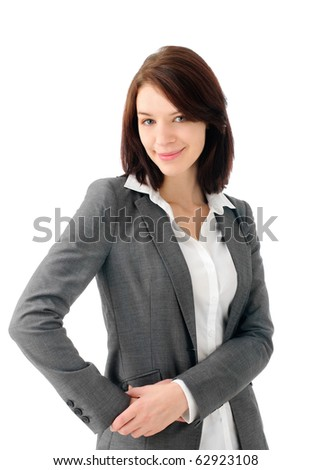 Pretty young entrepreneur - stock photo