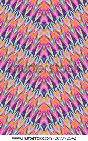 pretty zigzag ikat design print ~ seamless background - stock photo