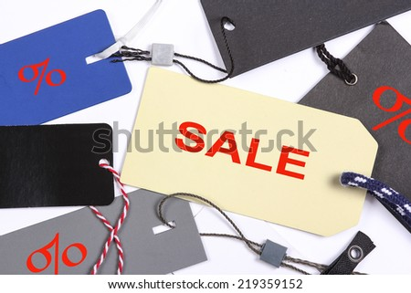 Price labels with text SALE - stock photo