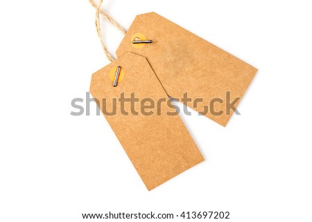 price tag on a white background