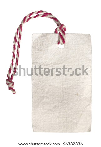 price tag or address label - stock photo