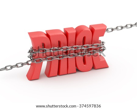 Price word in the chain. Keep the prices concept illustration. - stock photo