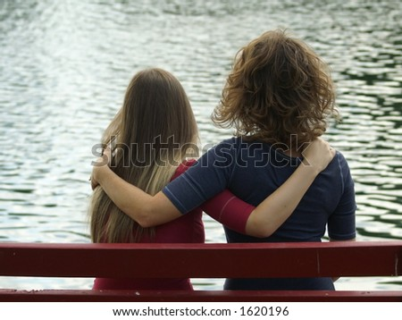 Priceless Mother Daughter Friendship - stock photo
