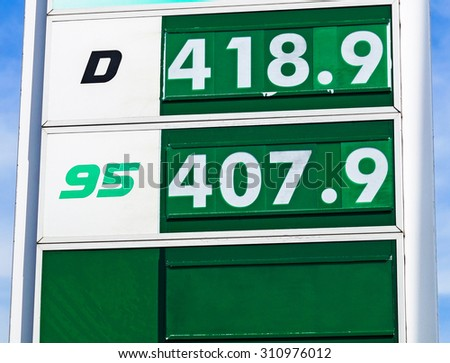 Prices at the gas station