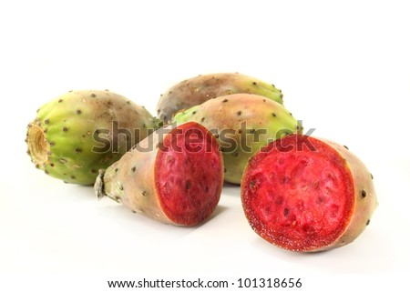 Prickly pears on a white background - stock photo